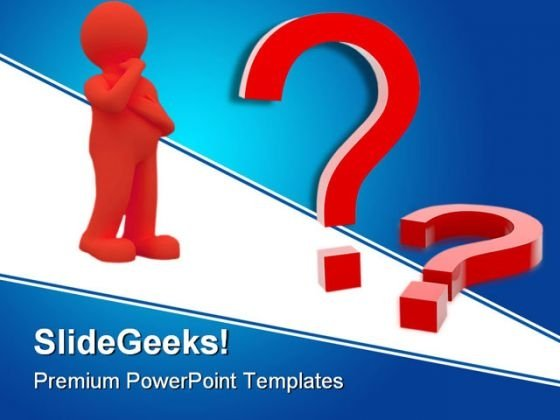Question Mark Business PowerPoint Backgrounds And Templates 1210