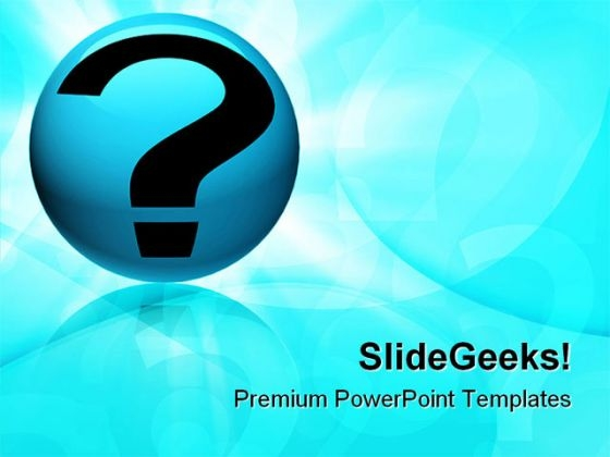 Question Symbol Globe PowerPoint Themes And PowerPoint Slides 0811