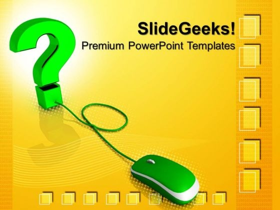 Question Symbol With Mouse Communication PowerPoint Templates And PowerPoint Themes 0712