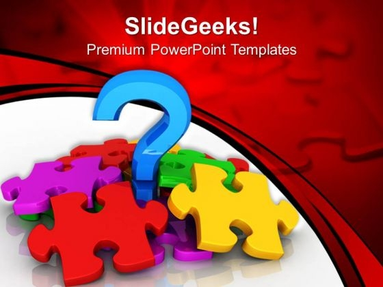 Question With Puzzle Symbol PowerPoint Templates And PowerPoint Themes 0912