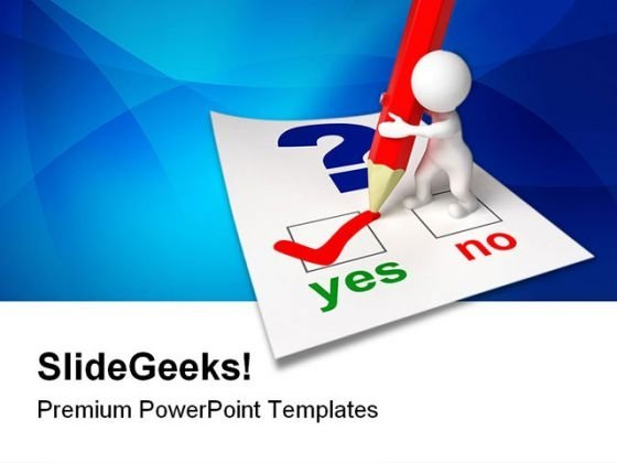 Questionnaire Business PowerPoint Themes And PowerPoint Slides 0511