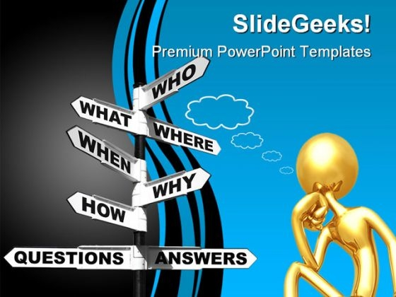 questions and answers powerpoint templates, slides and graphics, Modern powerpoint