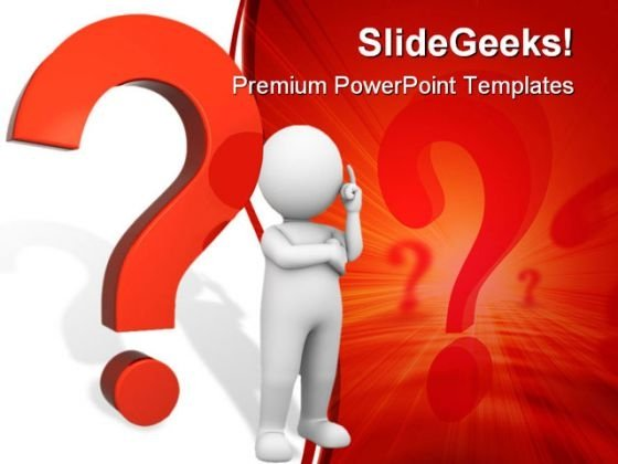 Questions Mark People PowerPoint Template 0910