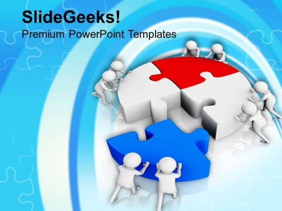 Quick Solution Fix Puzzle PowerPoint Templates Ppt Backgrounds For Slides 0813