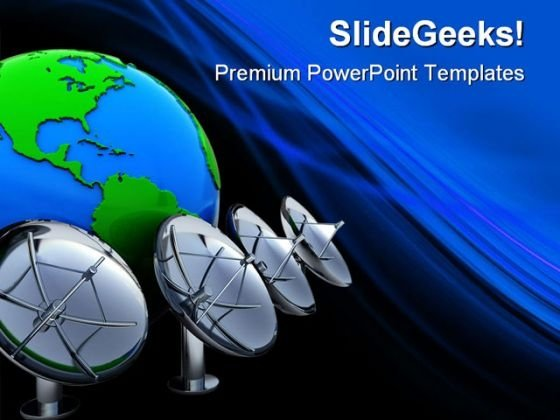 Radio Aerials Earth PowerPoint Themes And PowerPoint Slides 0411