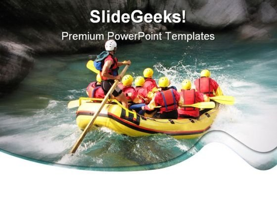 Rafting01 Sports PowerPoint Template 1110