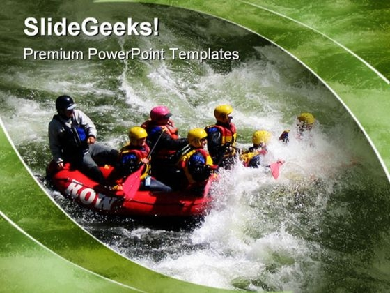 Rafting Down Sports PowerPoint Themes And PowerPoint Slides 0411