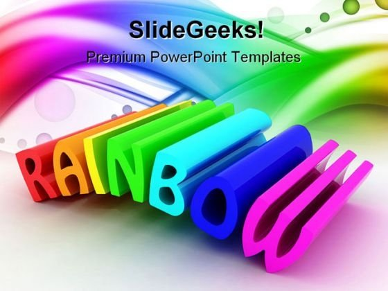 Rainbow Abstract Beauty PowerPoint Templates And PowerPoint Backgrounds 0711