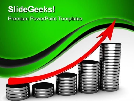 Raising Charts Business PowerPoint Templates And PowerPoint Backgrounds 0611
