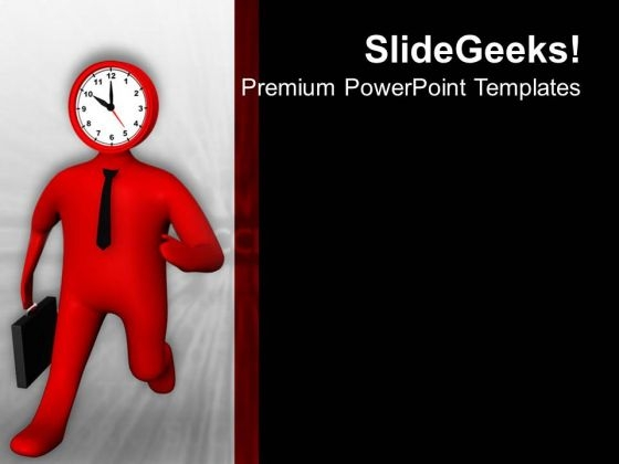 Reach On Time For Success In Business PowerPoint Templates Ppt Backgrounds For Slides 0613