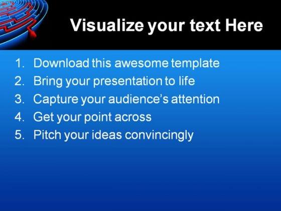 reaching_the_success_maze_business_powerpoint_template_1110_text