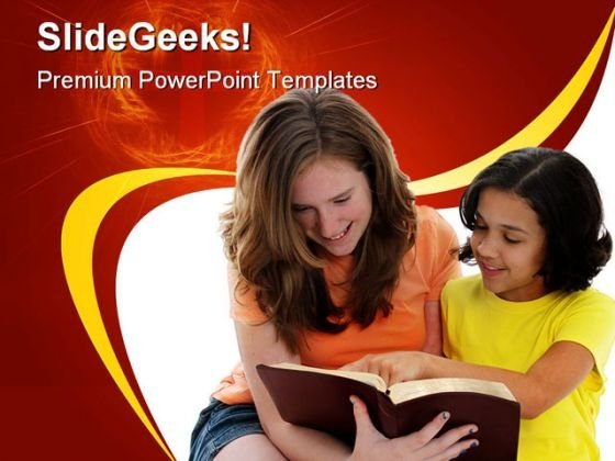 Reading Bible Religion PowerPoint Backgrounds And Templates 0111