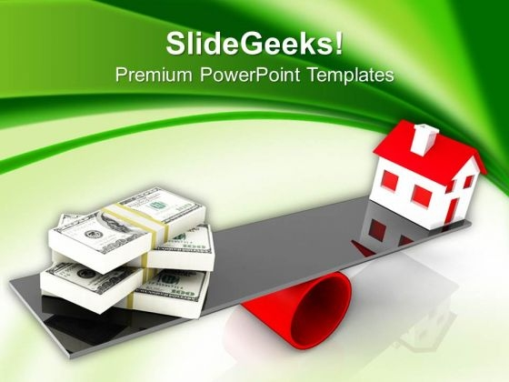 Real Estate And Dollar Concept Business PowerPoint Templates And PowerPoint Themes 1012