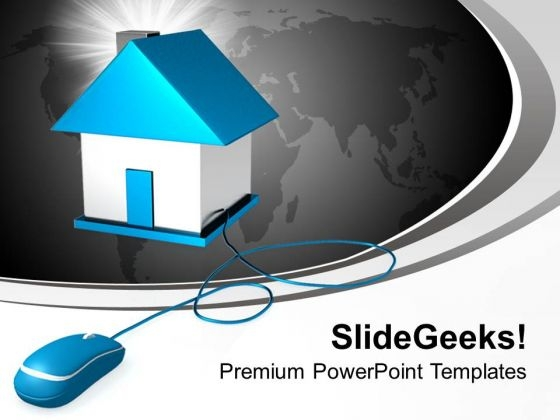 Real Estate On Internet PowerPoint Templates Ppt Backgrounds For Slides 0113