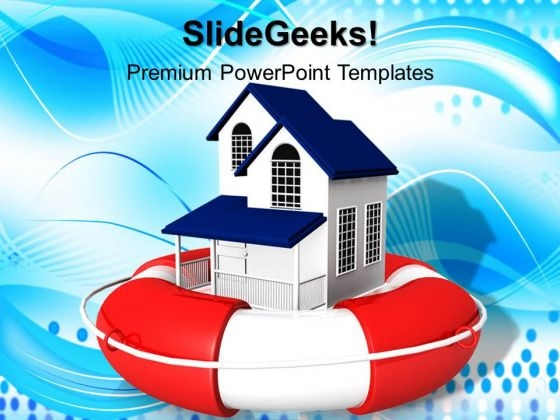 Real Estate Rescue PowerPoint Templates And PowerPoint Themes 0812