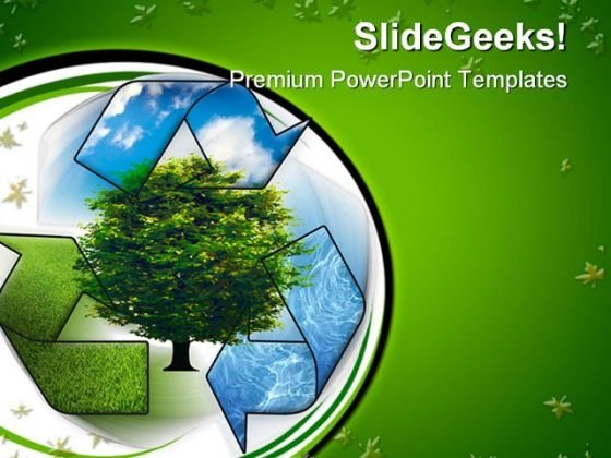 Recycle And Clean Environment PowerPoint Themes And PowerPoint Slides 0411