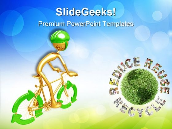 Recycle Bicycle Environment PowerPoint Themes And PowerPoint Slides 0711