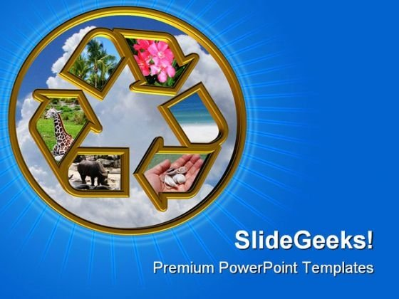 Recycle Elements Symbol PowerPoint Templates And PowerPoint Backgrounds 0811