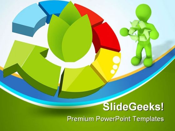 Recycle Icon Geographical PowerPoint Templates And PowerPoint Backgrounds 0411