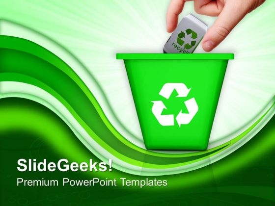 Recycle Trash Green Environment PowerPoint Templates And PowerPoint Themes 1012