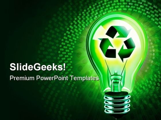 Recycling Idea Technology PowerPoint Templates And PowerPoint Backgrounds 0211