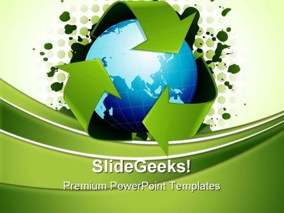 Recycling World Concept Environment PowerPoint Themes And PowerPoint Slides 0411