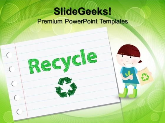 Recyle Symbol Environment PowerPoint Templates And PowerPoint Themes 1012