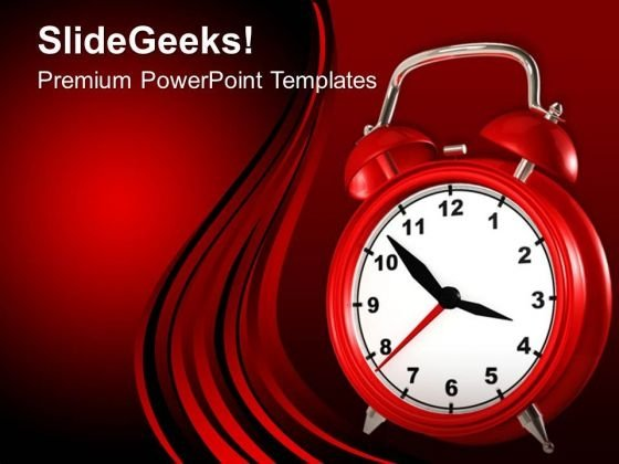 Red Alarm Clock Deadline PowerPoint Templates Ppt Backgrounds For Slides 0113
