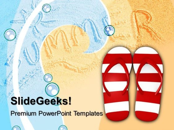 Red And White Stripy Footwear PowerPoint Templates And PowerPoint Themes 1012