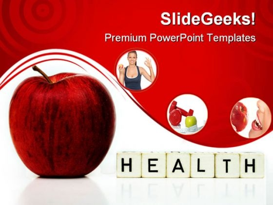 Red Apple Health Powerpoint Templates And Powerpoint