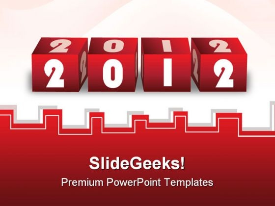 Red Blocks 2012 Shapes PowerPoint Templates And PowerPoint Backgrounds 1211