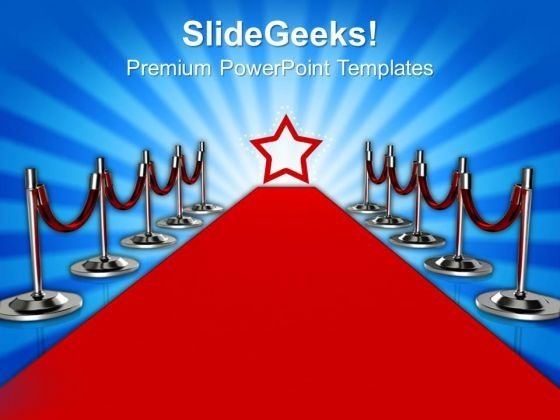 Red Carpet Success PowerPoint Templates And PowerPoint Themes 0812