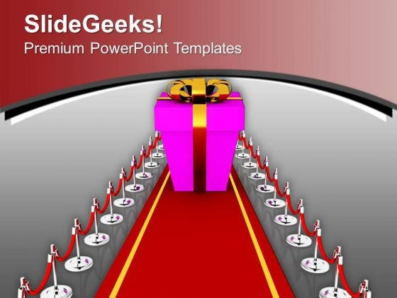 Red Carpet Way To Success PowerPoint Templates Ppt Backgrounds For Slides 0713