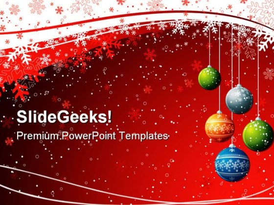 Red Christmas Background PowerPoint Templates And PowerPoint Backgrounds 0711
