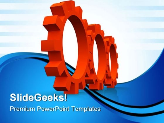Red Gears Industrial PowerPoint Templates And PowerPoint Backgrounds 0611