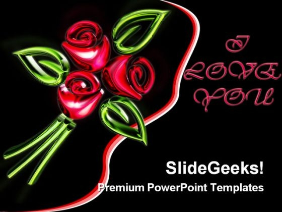 Red Glowing Roses Abstract PowerPoint Themes And PowerPoint Slides 0311
