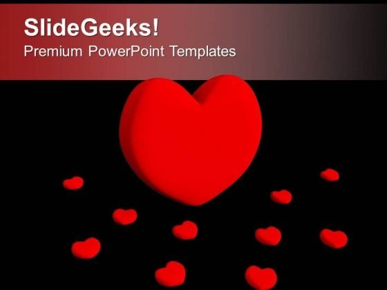 Red Heart Symbol Of Love Powerpoint Templates Ppt Backgrounds For