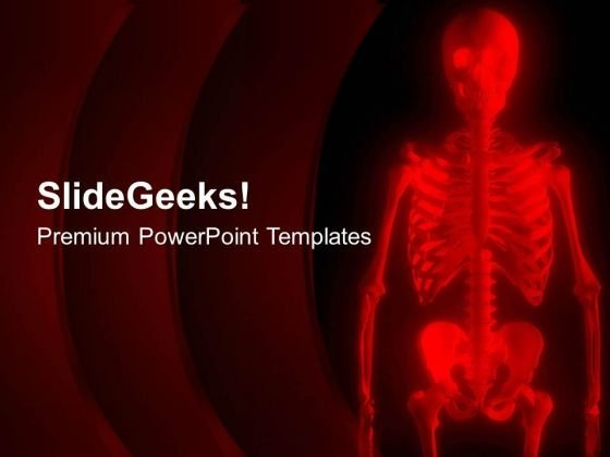 Red Human Skeleton PowerPoint Templates Ppt Backgrounds For Slides 0713