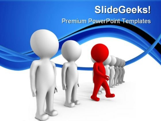 Red Leader01 Leadership PowerPoint Templates And PowerPoint Backgrounds 0611