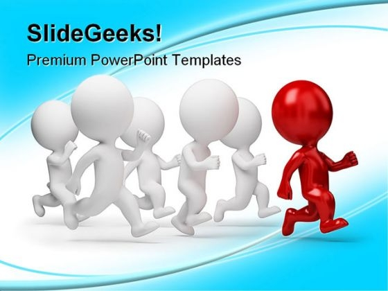 Red Leader Business Leadership PowerPoint Template 1110