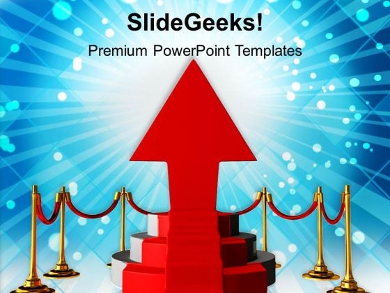 Red Podium Over Shining Bright Background PowerPoint Templates Ppt Backgrounds For Slides 0113