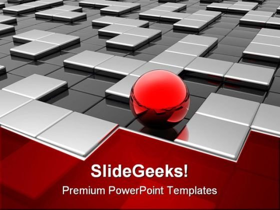 Red Sphere Leadership PowerPoint Template 0910