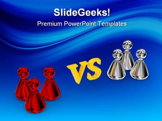 Red Vs Chrome Business PowerPoint Backgrounds And Templates 0111