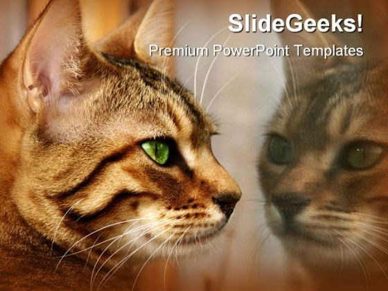Reflections Animals PowerPoint Themes And PowerPoint Slides 0211