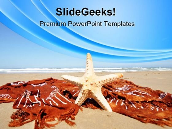 Relaxing Tropical Beach PowerPoint Themes And PowerPoint Slides 0411