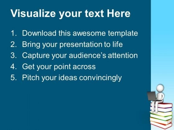 replace traditional way of reading powerpoint templates ppt, Modern powerpoint