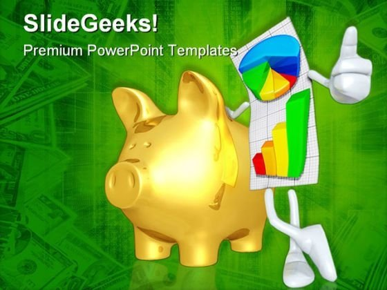 Report With Gold Pig Business PowerPoint Themes And PowerPoint Slides 0511