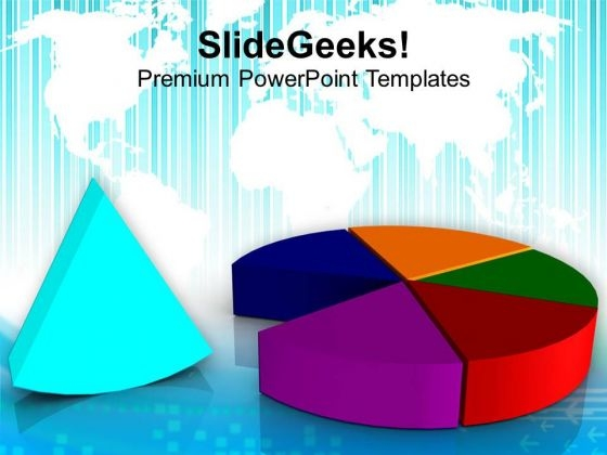 Representation Of Pie Chart Market Growth PowerPoint Templates Ppt Backgrounds For Slides 0413