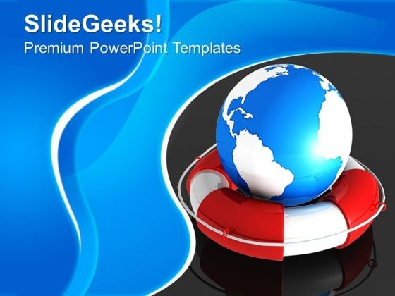 Rescue The Earth Globe PowerPoint Templates And PowerPoint Themes 0712