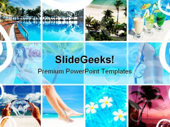 Resort Collage Nature PowerPoint Themes And Slides 0811